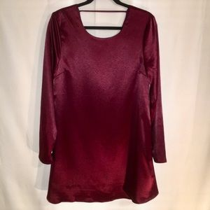 NWT | LOVE RICHE | MED | GARNET SATIN DRESS